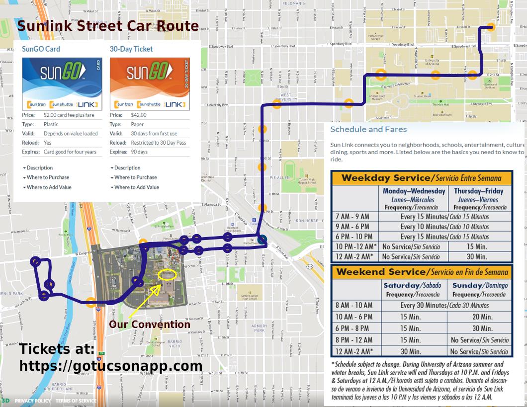 Sunlink Street Car Route